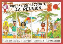 Ile De La Réunion,ile Française,océan Indien,archipel Des Mascareignes,CARTE ILLUSTREE CARPIER,paradis - Autres