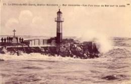 CPA - Le Grau Du Roi - Mer Démonté - Vue D'un Coup De Mer Sur La Jetée - Le Grau-du-Roi