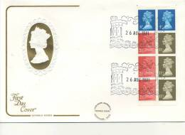 DECIMAL  -  1981  SE-TENANT BOOKLET FIRST DAY COVERS - WINDSOR CANCEL - FDC
