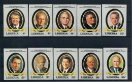 Liberia 1982 200 Jahre USA Mi.Nr. 1252/61 Kpl. Satz  Ungezähnt ** - Liberia