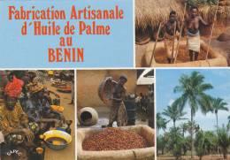 AFRIQUE Ouest,AFRICA,AFRIKA,Bénin,DAHOMEY,FABRIQUE HULE DE PALME,metier,femme Seins Nus,metier,malaxage - Benin