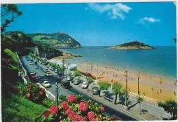 San Sebastian - Playa: RENAULT MONAQUATRE, DAUPHINE, SEAT 600, R$, SEAT 1500, CITROËN 2CV Auto/Car - Spain - Toerisme