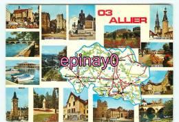 Br - 03 - ALLIER - Carte Géographique - Multivues - édit. Combier - - France