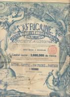 L'africaine Banque D'études Et D'entreprises Coloniales Afrique Congo Déco 1898 - Africa