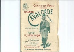 69 LYON CAVALCADE HUSSARD CARNAVAL PROGRAMME PUBLICITE MILITAIRE - Books, Magazines  & Catalogs