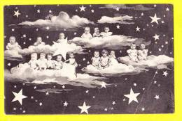 * Bébés Multiples - Babies - Baby (Fantaisie - Fantasy) * (B.K.W.I. 810/1) Lune, Moon, Maan, étoiles, Star, Nuage, CPA - Baby's