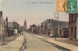59 CAUDRY - BOULEVARD JEAN JAURES ( CPA COLORISEE ) - Caudry