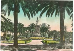 Italy, Riviera Dei Fiori, Ventimiglia, Giardini E Monumento Ai Cduti, 1954 Used Real Photo Postcard [13505] - Imperia