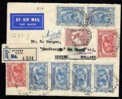 Registered Flightcover Australia/Netherlands Indies 1931 With Kagaroo And Airmailstamps (a Beauty) - Erst- U. Sonderflugbriefe