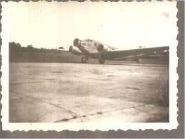 Petite Photo   Avion Tri Moteurs A Hélices Genre Fokker - Aviation