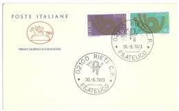 EUROPA CEPT  - FDC - ITALIA - ANNO 1973 - FDC - 1973
