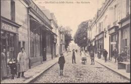 CPA - (72) Chateau Du Loir - Rue Nationale (boutique De Cartes Postales) - Chateau Du Loir