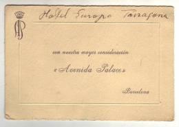 AVENIDA PALACE - BARCELONA - Cartes De Visite