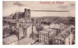 51 REIMS :  Carte à Systéme - Souvenir - 12 Vues (la Gare, Le Square .....) (état : Pliée à Gauche) - Reims