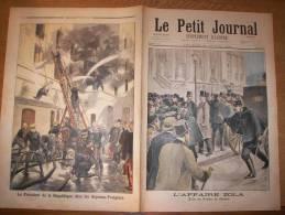 PETIT JOURNAL N°379– 20/02/1898 :L'AFFAIRE ZOLA - Au Palais De Justice / Le Président De La Rép Chez Les Sapeurs-Pompier - Le Petit Journal