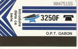TARJETA DE GABON DE 3250 F (con Marcas) - Gabon