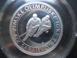 Winter Olyimpics In Sarajevo(first Serie) 100 Dinara 1983 ( PP- Silber 925-13 G) - Bosnië En Herzegovina