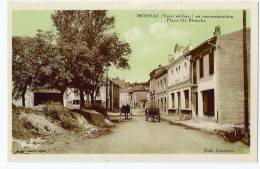 Cpa Tres Bon Etat , Carte Rare , Moissac En Reconstruction , Place Ste-blanche    Coll.capayrou - France