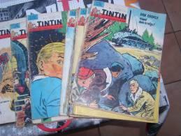 Gros Lot De Magazines,albums,pockets Sur TINTIN.pas De Prix De Reserve. Collectioneurs Tintin Faites Vous Plaisirs - Tintin
