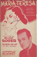 Maria-Teresa - Michel Roger - Jacques Helian - Ed Selmer 1946 - BE - Partitions Musicales Anciennes