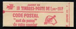 Carnet France Béquet 1F Rouge, à Gomme Mate, Et Date Au Bord Des Timbres  N° Yvert:  1892-C2A - Freimarke