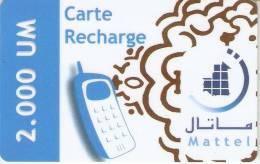 TARJETA DE MAURITANIA DE 2000 UM (MATTEL) - Mauritanien