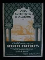 VINS SUPERIEURS D'ALGERIE PHILIPPEVILLE DOMAINE SAINT-CHARLES ( Constantine) Ets ROTH Frères 1931 - Alcools
