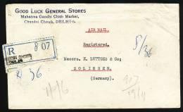 A1533) Indien India R-Brief Von Delhi 29.11.1951 Nach Solingen / Germany - 1950-59 Republik