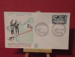 FDC - Paris St Nazaire 1918, 1er Avion Postal - Saint Nazaire - 17.8.1968 France - - FDC