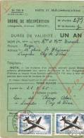 0756. Ordre De Expedition. Aereo LEMPDES (Pyu De Dome) 1965 - Aéreo
