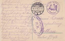 """""""KGL. PREUSS. RESERVELAZARETT * Stralsund * + TàD STRALSUND Du 12.2.16 Sur CP De Stralsund Adressée à ROTHAU - 1. Weltkrieg 1914-1918"""