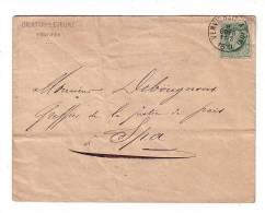 Belgique Verviers Dicktus Lejeune Greffier De La Justice De Paix 1879 - 1869-1883 Leopold II