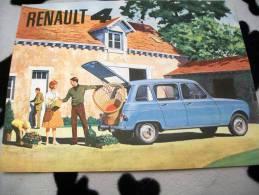 DEPLIANT / BROCHURE  RENAULT R 4 Foglietto - Cars