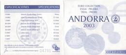 Lettonia-Latvia-Latvijas- Lettonie-2004-Prova Euro-9 Valori-Try Euro-Test Euro - Prove Private
