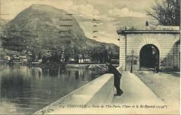 L - 38 - Grenoble - Isère - Porte De L´Ile Verte, L´Isère Et St-Eynard (1359m) - Passants - C. Baffert N° 164 - Grenoble