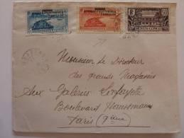 LETTRE DE LAMBARENE GABON 1938 => PARIS .  AFFRANCHIE  AEF MOYEN CONGO     FRENCH COLONIE COVER