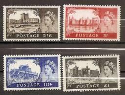 1967 1968 Gran Bretagna Great Britain CASTELLI  CASTLES Serie Di 4v. (502/05) MNH** - 1952-.... (Elizabeth II)