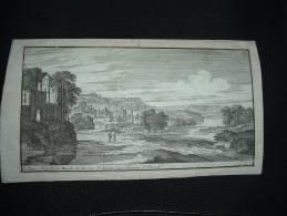 BELLE GRAVURE XVIIe XVIIIe PERELLE VUE RUE ST JACQUES COLONNES D'HERCULE - Gravures