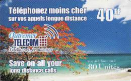 Guayane, Martinique, Guadeloupe, Reunion - Ocean Indien, 80 Units, Outremer Telecom