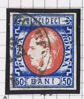 Romania: 1869 Mi Nr 25 Used Signed, Signé, Very Nice Borders And Cancel - 1858-1880 Moldavië & Prinsdom
