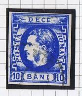 Romania: 1869 Mi Nr 22 Used , Signed, Signé Very Nice Borders And Cancel - 1858-1880 Moldavië & Prinsdom