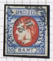 Romania: 1869 Mi Nr 25 Used , Signed, Signé Very Nice Borders And Cancel - 1858-1880 Moldavië & Prinsdom