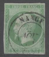 Napoléon III  N° 12 (Variété) Avec Oblitération Cachet à Date  TTB - 1853-1860 Napoleon III