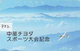 Télécarte Japon * 110-104 * TELECA * PHONECARD JAPAN * TELEFONKARTE (772) PRIVATE PRIVE * AVION * GOLF * AIRPLANE - Airplanes