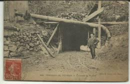 TRAVAUX  DU REFRAIN  ENTREE DU TUNEL 1909 - Non Classés