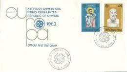 CYPRUS 1980 EUROPA CEPT FDC /zx/ - 1980