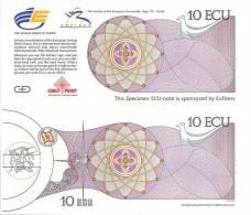 Test Note - CP-121, 10 Ecu, Expo Money- Sevillle Spain - [ 8] Specimen