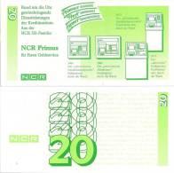 Test Note - NCR-232a, 20 Deutchmarks, ATM Machines - [17] Vals & Specimens