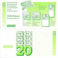 Test Note - NCR-232a, 20 Deutchmarks, ATM Machines - [17] Falsi & Campioni