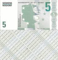 Test Note - SNIX-161, 5 Euro, Siemens Nixdorf, Euro Stars / ATM - [17] Falsi & Campioni